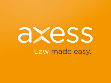 Axess Law identity, retail,<br>promotional and website design