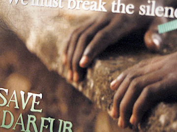 Save Darfur promotional postcard